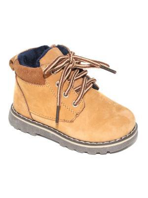 Ботинки Капитошка.. Цвет: желтый, коричневый