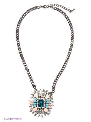 Колье Milana Style. Цвет: прозрачный, кремовый, морская волна, голубой