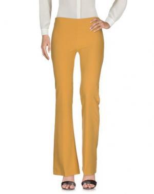 Повседневные брюки MIA SULIMAN. Цвет: желтый