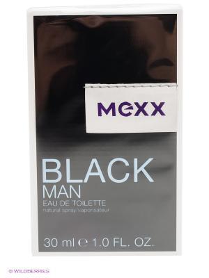 Mexx Black Man М Товар Туалетная вода 30 мл. Цвет: черный, голубой, белый
