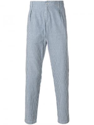 Donnie striped straight-leg trousers A.P.C.. Цвет: синий