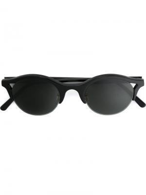 Солнцезащитные очки Sefilo Retrosuperfuture. Цвет: чёрный