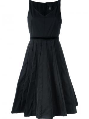 Расклешенное платье с V-образным вырезом Marc Jacobs. Цвет: чёрный