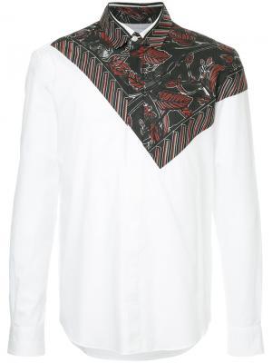 Leaf bandana print shirt Yoshiokubo. Цвет: белый