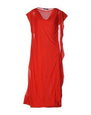 Платье до колена DONNA KARAN. Цвет: красный