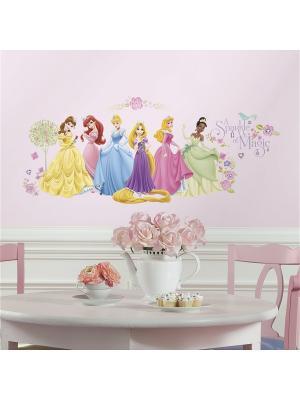 Наклейки для декора Дисней: Принцессы, персонажи ROOMMATES. Цвет: голубой, красный, синий, белый, черный, зеленый, серый, оранжевый, желтый