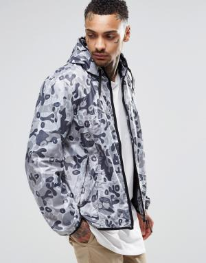 Your Own Двусторонняя камуфляжная куртка. Цвет: серый