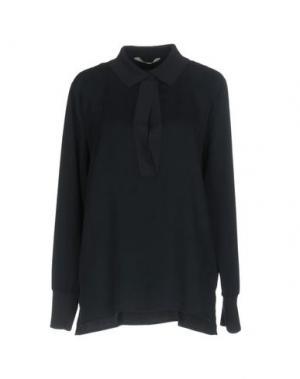 Блузка YAYA. Цвет: темно-синий