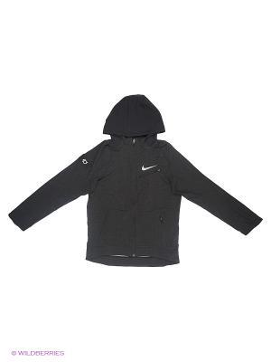 Толстовка KD B NK THRMA HPRELT HOODIE FZ Nike. Цвет: черный
