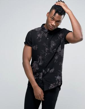 Rollas Рубашка с принтом. Цвет: черный