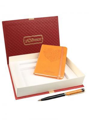 77003 Набор подарочный, Записная книжка+ручка Venuse. Цвет: оранжевый