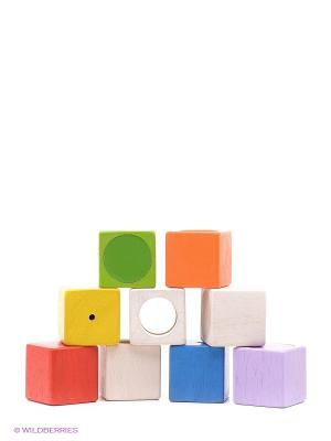 Активные блоки PLAN TOYS. Цвет: синий, зеленый, оранжевый, белый