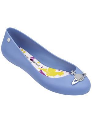 Балетки Melissa. Цвет: голубой