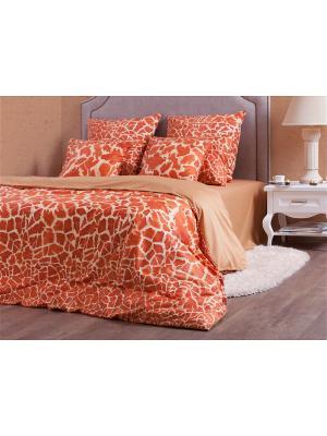 Полутороспальное постельное белье Хлопковый Край. Цвет: оранжевый