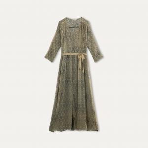 Платье длинное FOUGERE MES DEMOISELLES. Цвет: экрю/ синий