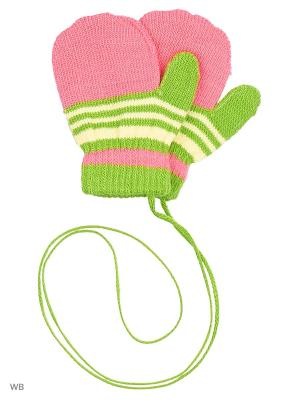 Варежки Mini. Цвет: зеленый, розовый