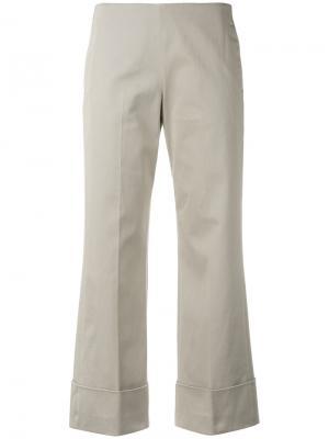Укороченные брюки Fay. Цвет: телесный
