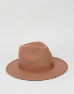 7X Шляпа-федора. Цвет: рыжий