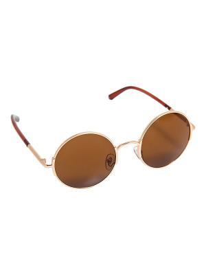Солнцезащитные очки Kameo-bis. Цвет: золотистый, коричневый