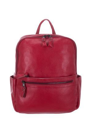Рюкзак S15199 натуральная кожа Sara. Цвет: красный
