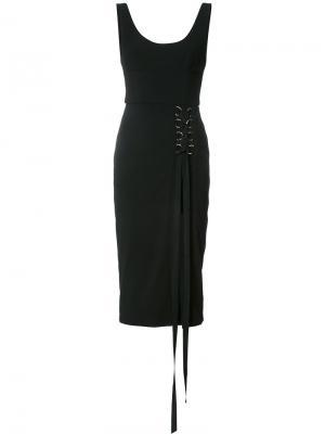 Платье со шнуровкой Billie Rebecca Vallance. Цвет: чёрный