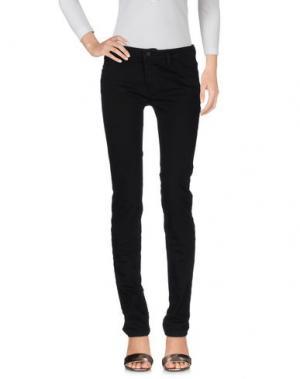 Джинсовые брюки POÈME BOHÈMIEN. Цвет: черный