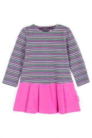 Платье Coccodrillo. Цвет: розовый, серый, зеленый