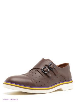 Туфли Boom Bap Wear. Цвет: темно-коричневый