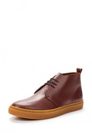 Ботинки Fred Perry. Цвет: бордовый