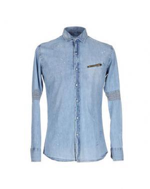 Джинсовая рубашка TAKESHY KUROSAWA. Цвет: синий