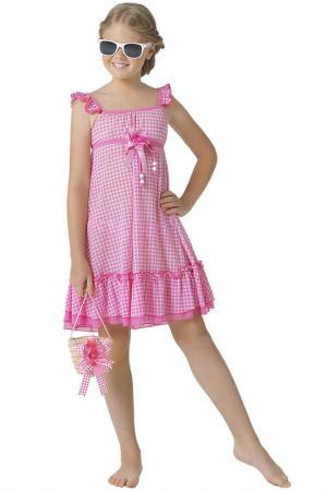 Платье пляжное, сумочка Arina Festivita by Lora Grig. Цвет: розовый