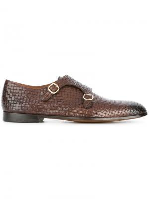 Туфли с пряжками Doucals Doucal's. Цвет: коричневый