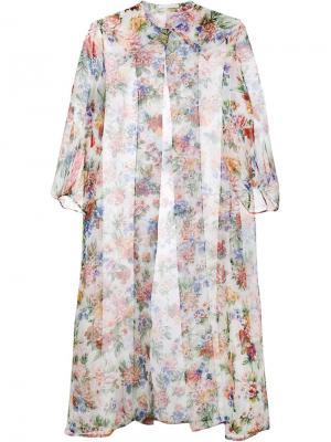 Пальто с цветочным принтом Jessica Emilia Wickstead. Цвет: многоцветный