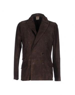 Пиджак D'AMICO. Цвет: темно-коричневый