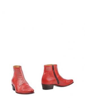 Полусапоги и высокие ботинки SEBOY'S. Цвет: красный