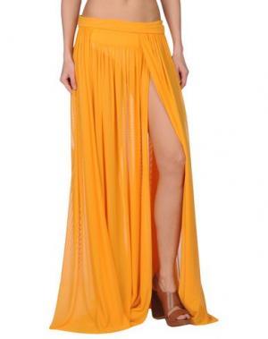 Длинная юбка FISICO. Цвет: оранжевый