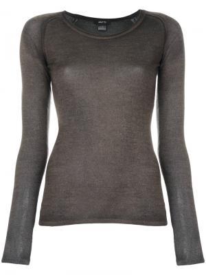 Джемпер тонкой вязки Avant Toi. Цвет: серый