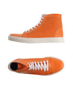 Высокие кеды и кроссовки EXIBIT. Цвет: оранжевый