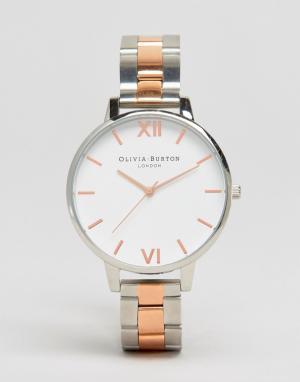Olivia Burton Часы из разных металлов OB16BL32. Цвет: серебряный