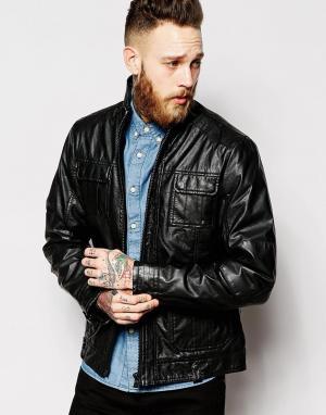 Barneys Originals Куртка из искусственной кожи с 5 карманами