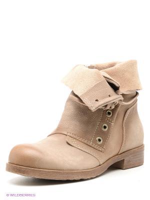 Ботинки CAFeNOIR. Цвет: бежевый