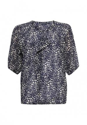 Блуза Emoi Size Plus. Цвет: синий