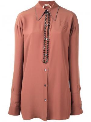 Объемная блузка Nº21. Цвет: розовый и фиолетовый