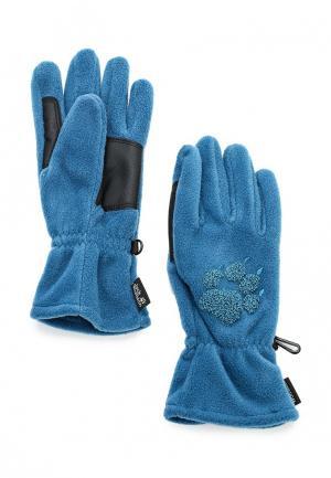 Перчатки Jack Wolfskin. Цвет: синий