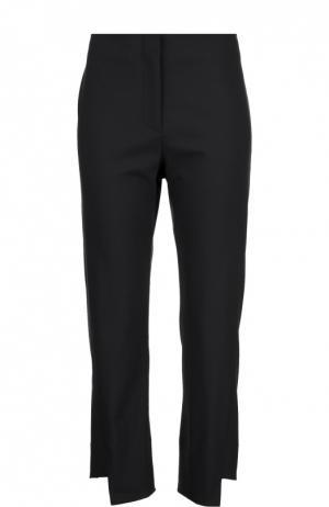 Шерстяные укороченные брюки асимметричного кроя Acne Studios. Цвет: синий