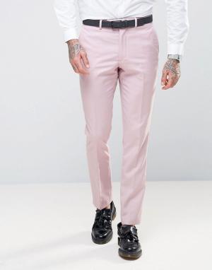 RUDIE Супероблегающие розовые брюки. Цвет: розовый