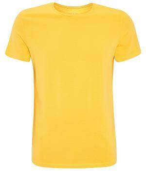 Футболка Oodji. Цвет: желтый