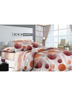 Постельное белье ИМАТЕКС. Цвет: серый, оранжевый