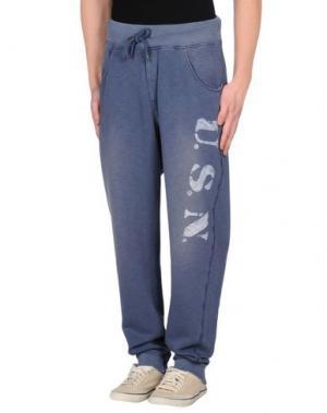 Повседневные брюки BOWERY. Цвет: грифельно-синий