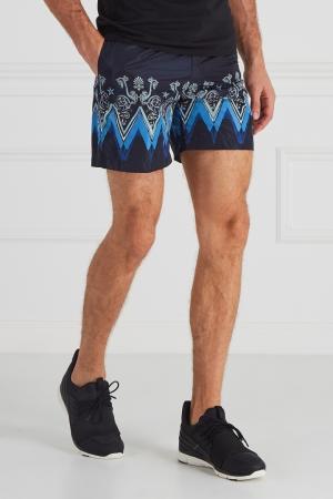 Плавки с принтом Versace Collection. Цвет: синий